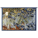 Irises With Inspiration Wall Tapestry With Rod