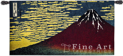 Red Fuji Wall Tapestry