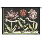 Tulips On Black I Wall Tapestry