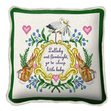 Lullabye and Goodnight With Words Pillow Cover