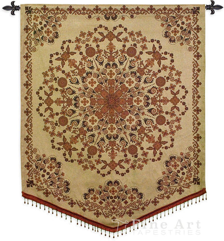 India Golden Wall Tapestry