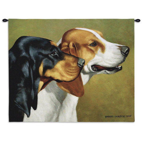 Coonhound Wall Tapestry with Rod