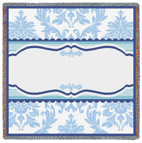 Damask Blue Small Blanket