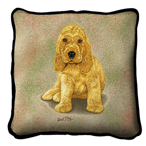 Cocker Spaniel Puppy Pillow Cover