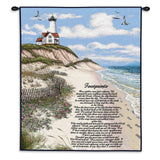 Footprints Wall Tapestry With Rod