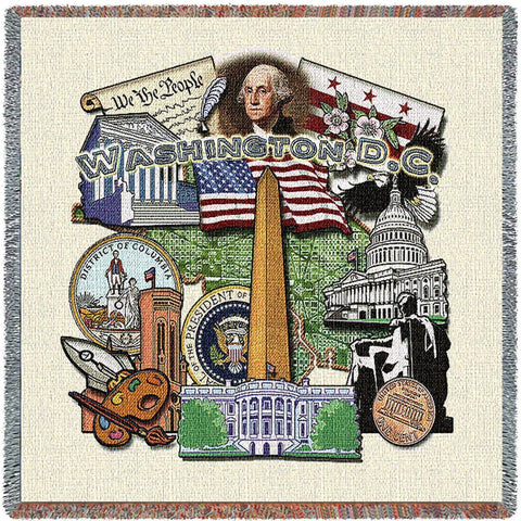 Washington DC State Small Blanket
