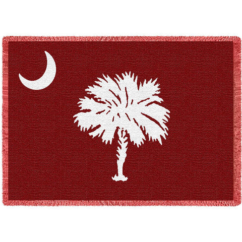 South Carolina Palmetto Moon Red Blanket