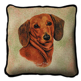 Dachshund Red Pillow Cover