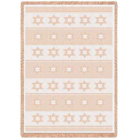 Star of David Natural Blanket