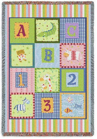 ABC 123 Mini Blanket