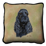 Cocker Spaniel Black Pillow Cover
