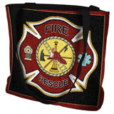 Firefighter Shield Tote Bag