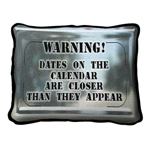 Warning Pillow