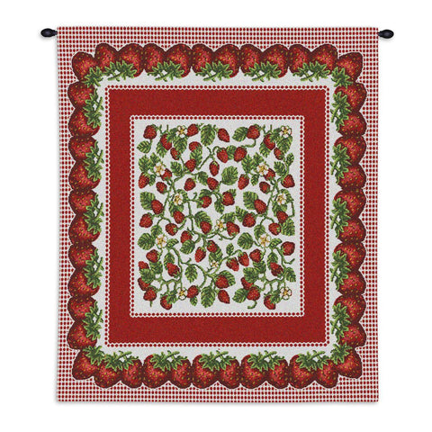 Strawberry Festival Wall Tapestry With Rod