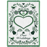Our Wedding Green Blanket