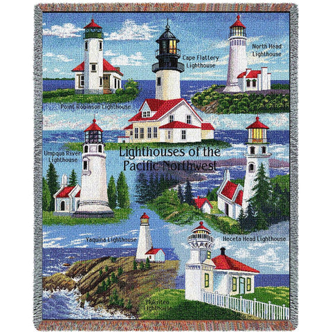 Lighthouses of the Pacific Northwest Blanket