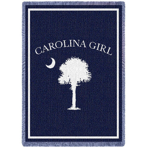 Carolina Girls Navy Small Blanket