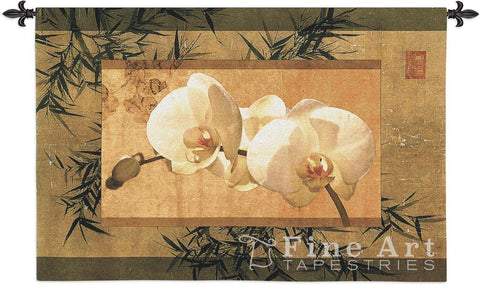 Bamboo And Orchids I Wall Tapestry