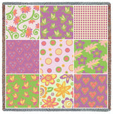 Nine Patch Flower Small Blanket