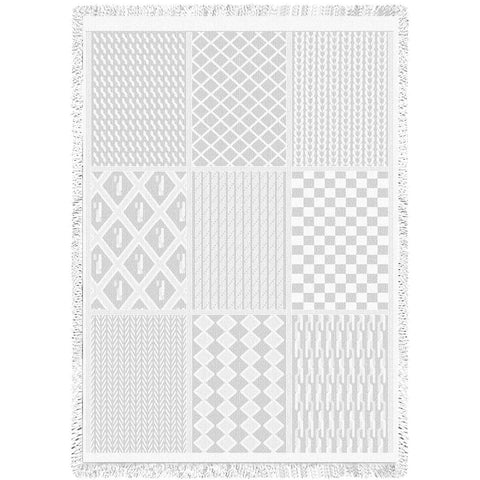 Irish Fisherman White Natural Blanket