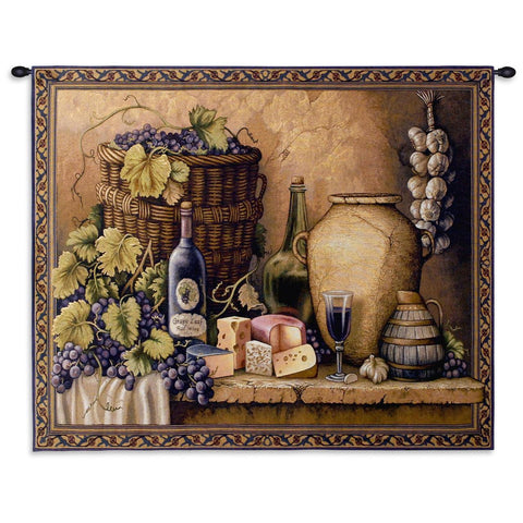 Wine Tasting Small Wall Tapestry With Rod