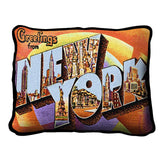Greetings From New York Pillow
