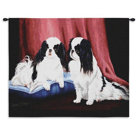 Japanese Chin Wall Tapestry with Rod