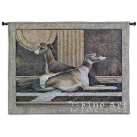 Greyhound Fresco Wall Tapestry