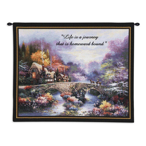 Going Home With Words Wall Tapestry With Rod