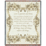 Love Is Neutral Tone Blanket