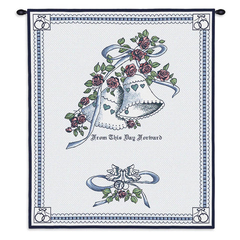 Matrimony Blue Wall Tapestry With Rod