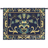 Heritage Floral Blue Yel Wall Tapestry