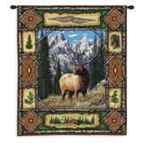 Elk Lodge Wall Tapestry With Rod