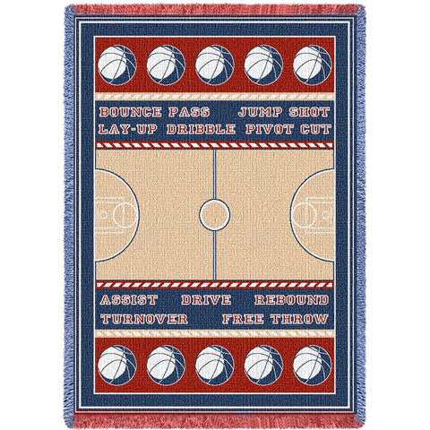 Basketball Court Blanket