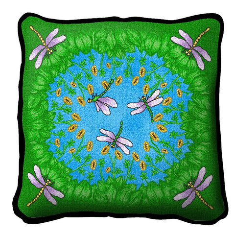 Dancing Dragonfly Pillow
