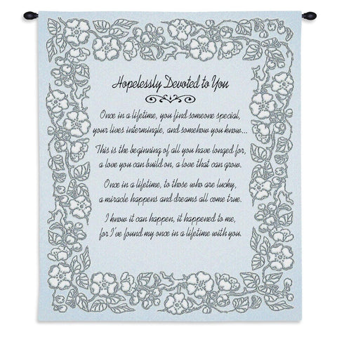 Wedding Embroidery Silver Wall Tapestry With Rod
