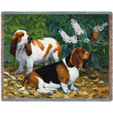 Bassett Hound and Butterfly Blanket