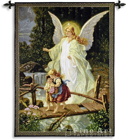 Guardian Angel 1900 Wall Tapestry