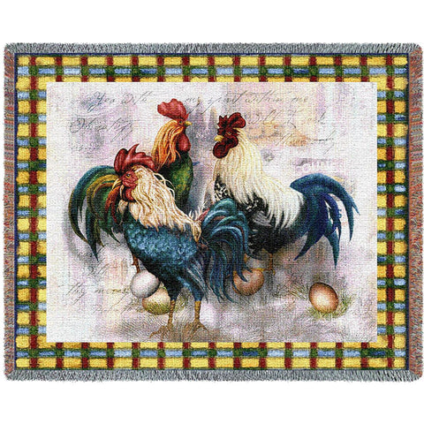Rooster Trio Blanket