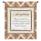 Your Marriage Blessing Wall Tapestry With Rod