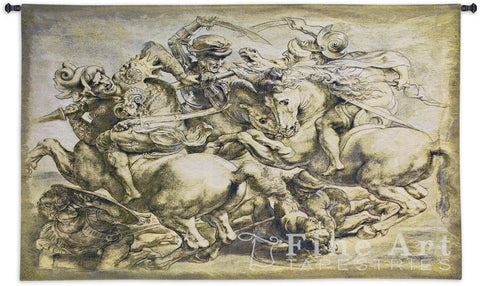 The Battle Of Anghiari Wall Tapestry
