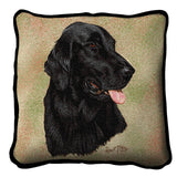Flat-Coated Retriever Pillow Cover