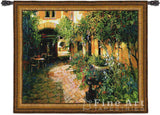 Courtyard Alsace Medium Wall Tapestry
