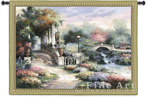 Classic Garden Retreat Small Wall Tapestry
