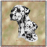 Dalmatian with Puppy Small Blanket