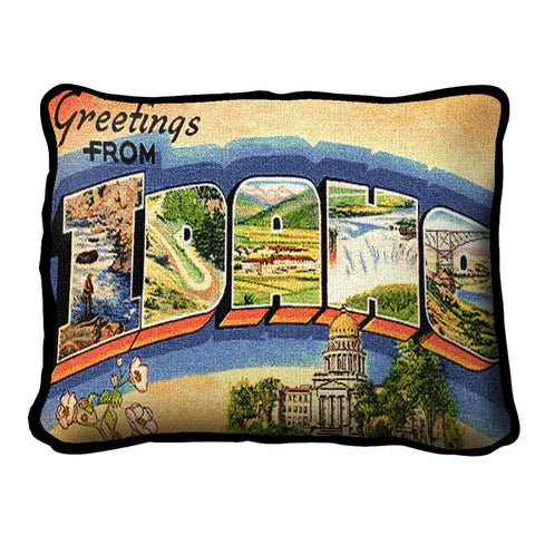 Greetings From Idaho Pillow