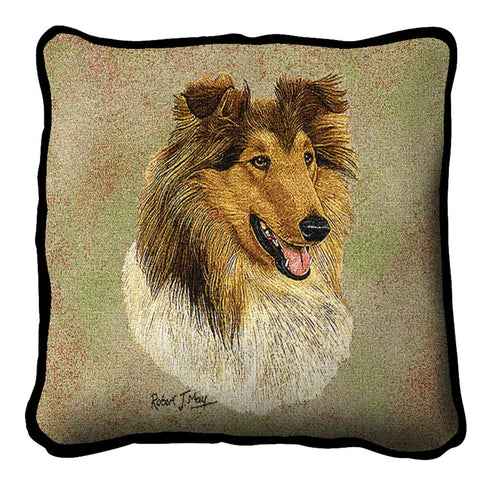 Rough Collie 2 Pillow