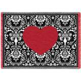 Damask Heart Blanket
