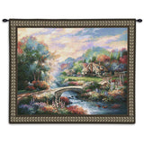 Country Bridge Wall Tapestry With Rod