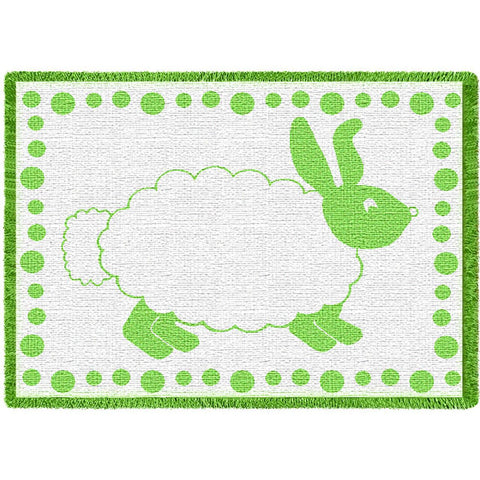Baby Bunny Green Small Blanket